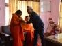 नेपाल मानव धर्म सेवा समितिका प्रमुख महात्मा तथा महात्माहरूको जिविसको कार्यालयमा स्वागत तथा सम्मान कार्यक्रम